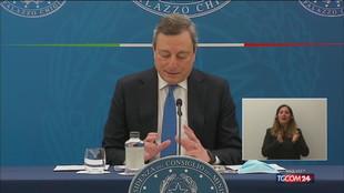 Draghi: il 26 aprile tornano le zone gialle