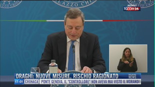 Breaking News delle 17.00 | Draghi: nuove misure, rischio ragionato