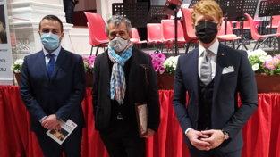 """Sassari, Paolo Fresu riceve il riconoscimento """"Una sinfonia per..."""" al concerto dell'Orchestra del Conservatorio Luigi Canepa"""