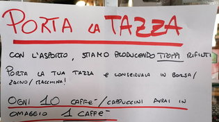 """""""Con l'asporto siamo sommersi dai rifiuti"""": bar del Torinese lancia l'iniziativa #portalatazza"""