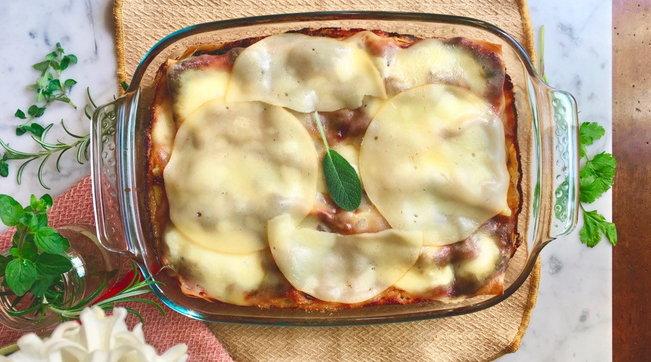 Lasagne di verdure con crema di stracchino