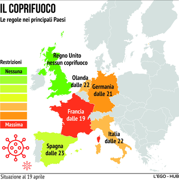 Coronavirus, il coprifuoco nei principali Paesi europei