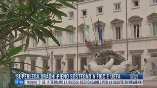 Breaking News delle 18.00 | Superlega, Draghi: pieno sostegno a Figc e Uefa