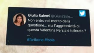 """Giulia Salemi difende la mamma Fariba a """"L'Isola dei Famosi"""": """"L'aggressività di Valentina Persia è tollerata?"""""""