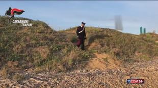 Trapani, la spiaggia della droga: 116 kg sequestrati