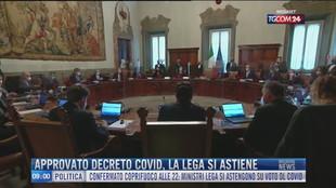 Breaking News delle 09.00 | Approvato decreto Covid, la Lega si astiene