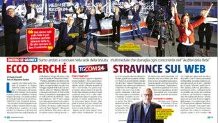 Tgcom24 primo sito d'Italia: il servizio su Sorrisi e Canzoni Tv