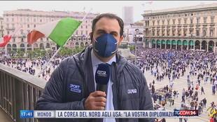 Inter Campione d'Italia, festa in Piazza Duomo