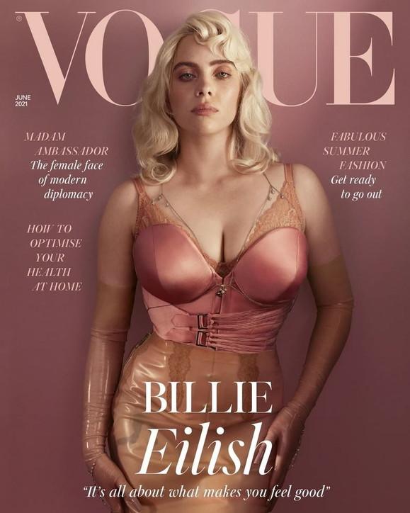 """Billie Eilish in versione pin-up per """"Vogue"""""""