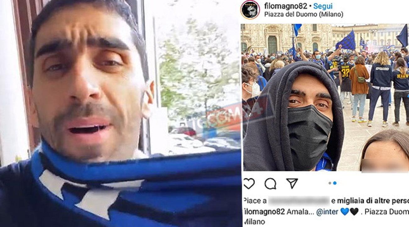 Pioggia di insulti social, Filippo Magnini interista rimuove foto e commenti