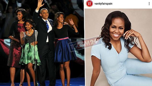 """Michelle Obama: """"Orgogliosa delle mie figlie"""""""