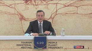 """Draghi: """"Prenotate le vacanze in Italia, siamo impazienti"""""""