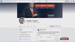 Trump, Facebook conferma il bando