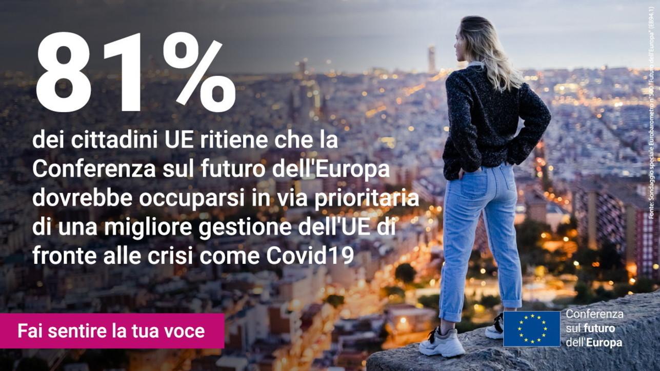 Sondaggio Eurobarometro: serve più Ue nella gestione delle crisi