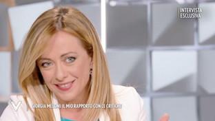 """Giorgia Meloni si racconta a """"Verissimo"""": """"Ho sofferto molto quando gli  hater  mi hanno augurato di abortire"""""""
