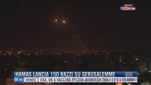 Breaking News delle 09.00 | Hamas lancia 150 razzi su Gerusalemme
