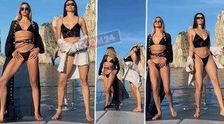 Dayane Mello e Soleil Sorgè in barca ad Amalfi, guarda che balletti bollenti