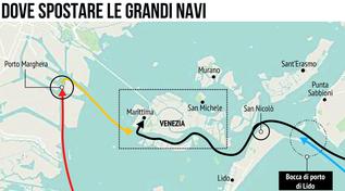 Venezia e il dilemma sulle grandi navi: ecco le ipotesi
