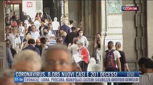 Breaking News delle 18.00 | Coronavirus, 8.085 nuovi casi e 201 decessi