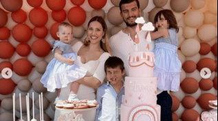Beatrice Valli e Marco Fantini, festa in terrazza per il primo compleanno di Azzurra