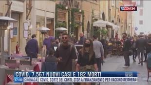 Breaking News delle 18.00 | Covid, 7.567 nuovi casi e 182 morti