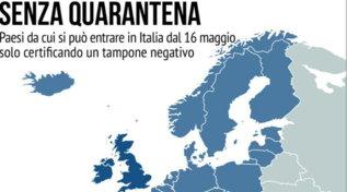 Covid, ecco i Paesi dai quali si può entrare in Italia senza quarantena