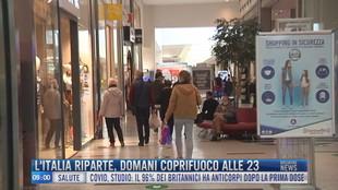 Breaking News delle 09.00 | L'Italia riparte domani coprifuoco alle 23