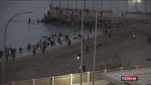 Migranti Spagna, arrivi di massa a Ceuta