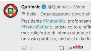 Addio a Franco Battiato, il cordoglio della politica