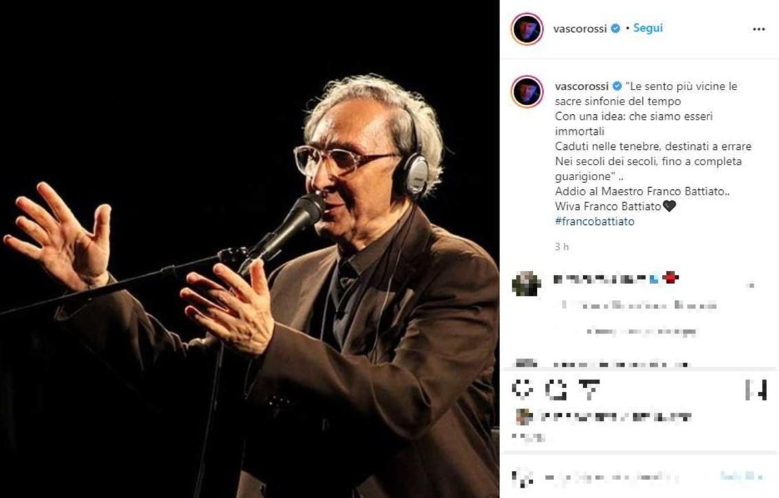 Ciao Franco: il mondo dello spettacolo piangeBattiato