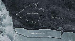 Antartide, si stacca l'iceberg più grande del mondo