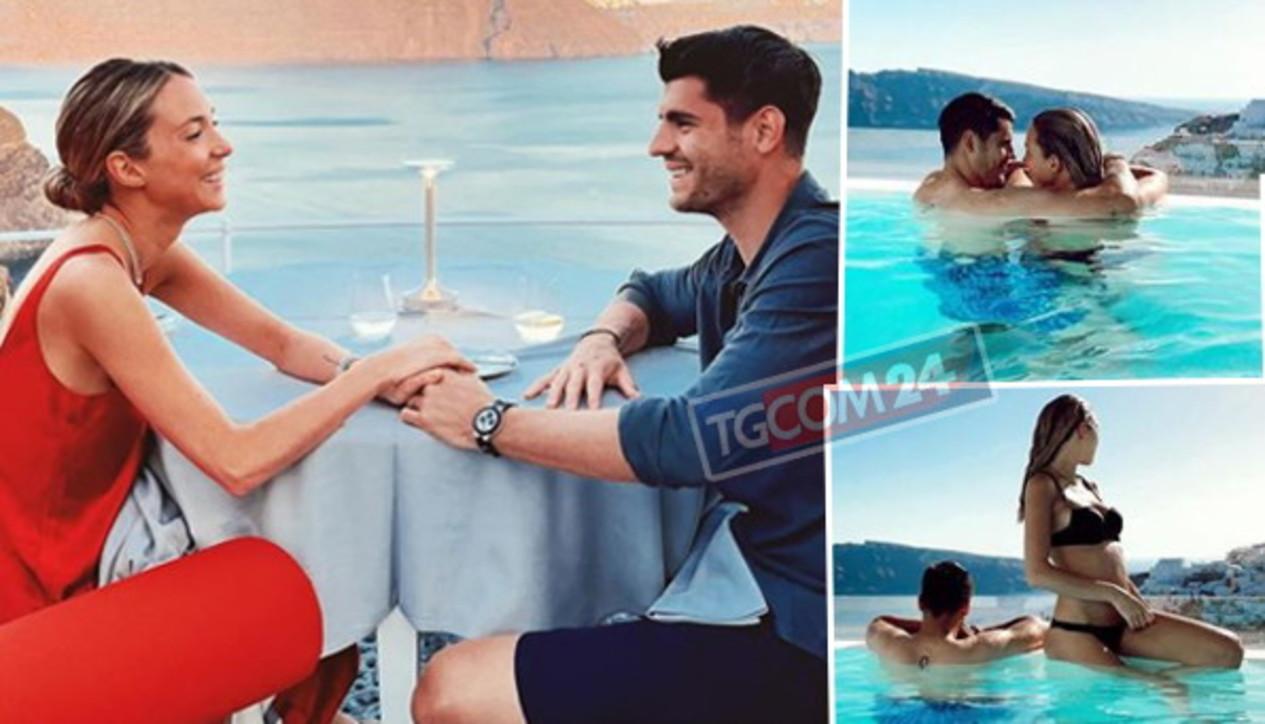 Alice Campello e Alvaro Morata in Grecia, vacanza bollente