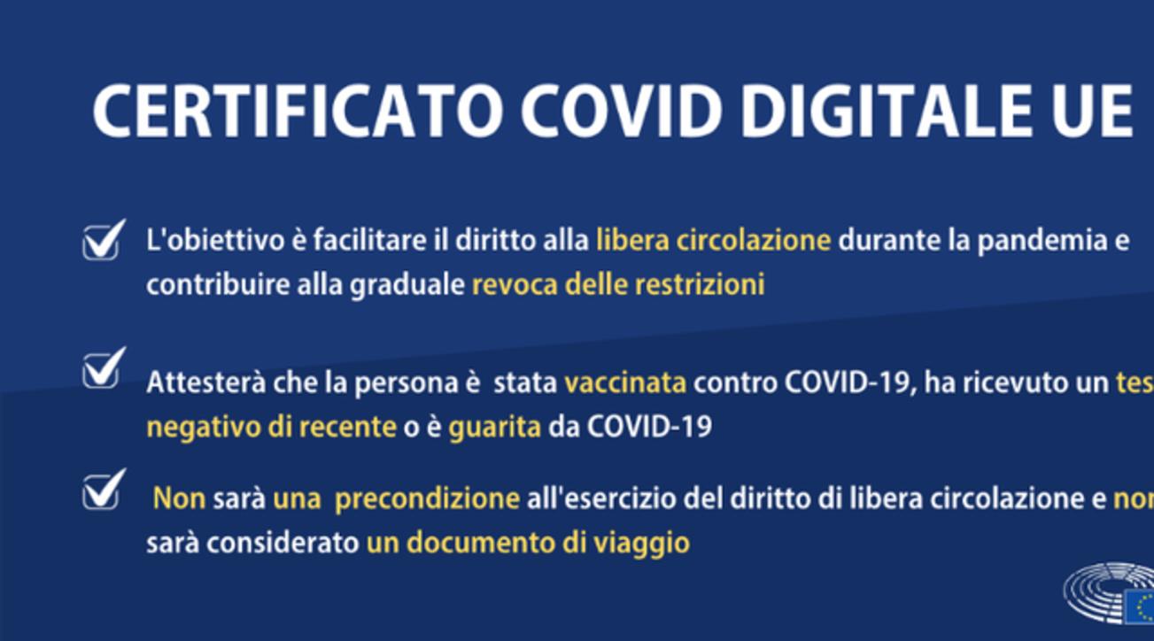 Certificato Covid Digitale Ue: quello che c'è da sapere