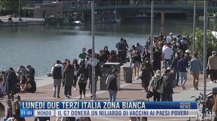Breaking News delle 11.00 | Lunedì due terzi Italia zona bianca