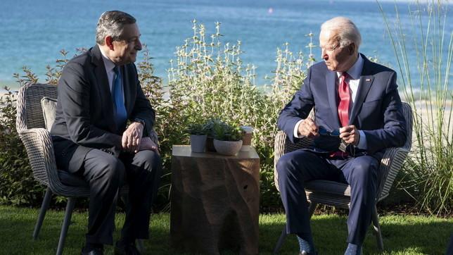 G7 Cornovaglia, il bilaterale tra Mario Draghi e Joe Biden