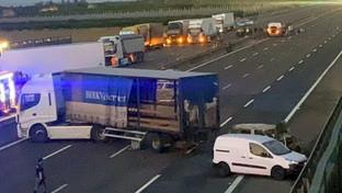Assalto a un furgone portavalori sull'A1
