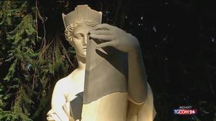 """""""Restituita"""" a Milano la statua dell' """"Italia turrita"""""""