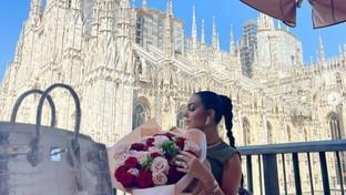 Georgina Rodriguez a Milano (senza Cr7) ed è subito uno spettacolo