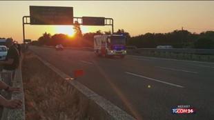 Assalto a un mezzo portavalori sull'A1 tra Modena e Bologna