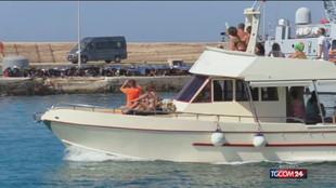 Lampedusa, migranti su peschereccio