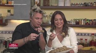 Spaghetti alla chitarra con salmì di manzo e Tortini di carote e cioccolato