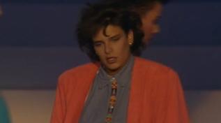 """La principessa Stéphanie di Monaco canta ai """"Telegatti"""" nel1986"""