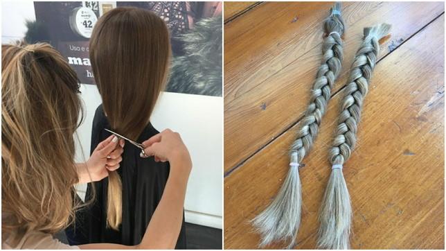 Greta,a 8 anni dona i capelli perle parrucche dei malati oncologici