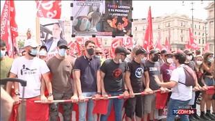 Sindacalista morto, la protesta a Roma