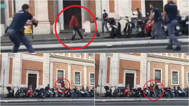 Roma, allarme alla stazione Termini per un uomo armato di coltello: agente spara per fermarlo