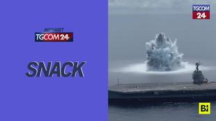"""Come un terremoto: il """"test di guerra"""" della marina americana è spettacolare"""