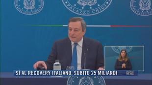 Breaking News delle 21.30 | Sì al recovery italiano subito 25 miliardi