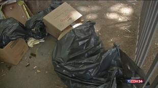Roma, caos rifiuti in strada