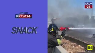 Incidente sull'A1 tra Piacenza e Fiorenzuola: tre mezzi in fiamme e due morti