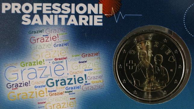 Pandemia, l'Italia ringrazia le professioni sanitarie con una moneta commemorativa